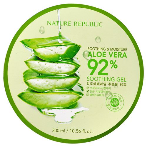 Nature Republic, Soothing & Moisture Aloe Vera 92% Soothing Gel, 10.56 fl oz (300 ml) Review