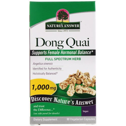 Nature's Answer, Dong Quai, 1,000 mg, 90 Vegetarian Capsules Review