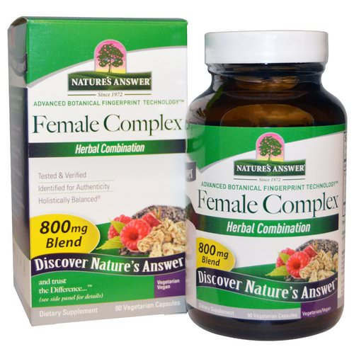 Nature's Answer, Female Complex, Herbal Combination, 800 mg, 90 Vegetarian Capsules Review