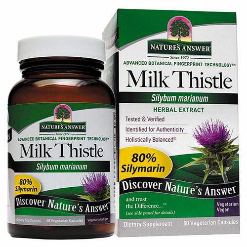 Nature's Answer, Milk Thistle, Seed Standardized Extract, 60 Vegetarian Capsules Review