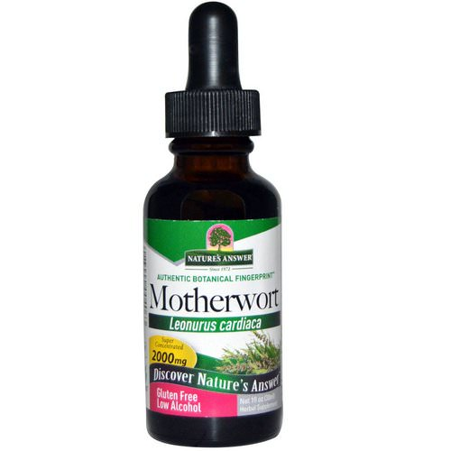 Nature's Answer, Motherwort, Low Alcohol, 2000 mg, 1 fl oz (30 ml) Review