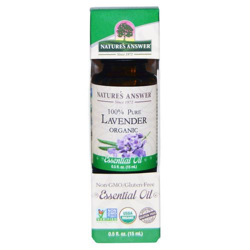 Nature's Answer, Organic Essential Oil, 100% Pure Lavender, 0.5 fl oz (15 ml) Review