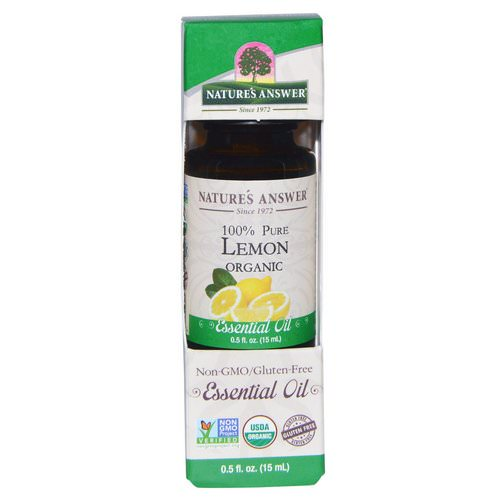 Nature's Answer, Organic Essential Oil, 100% Pure Lemon, 0.5 fl oz (15 ml) Review