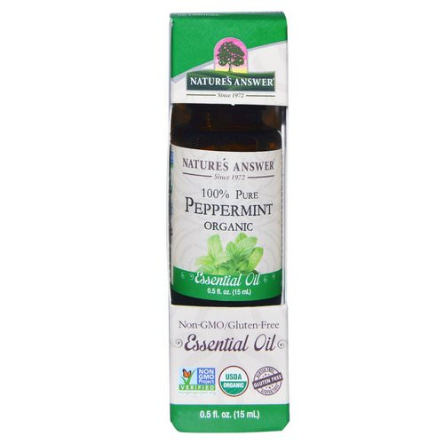 Nature's Answer, Organic Essential Oil, 100% Pure Peppermint, 0.5 fl oz (15 ml) Review