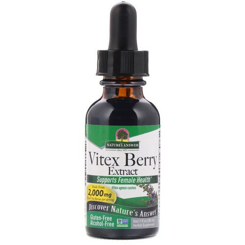 Nature's Answer, Vitex Berry Extract, Alcohol-Free, 2,000 mg, 1 fl oz (30 ml) Review