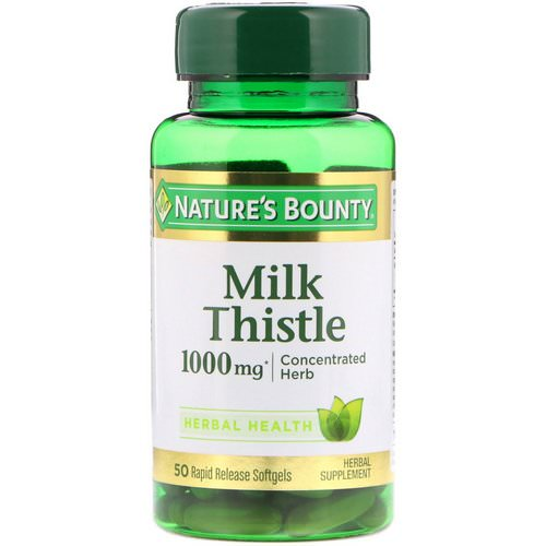 Nature's Bounty, Milk Thistle, 1000 mg, 50 Rapid Release Softgels Review