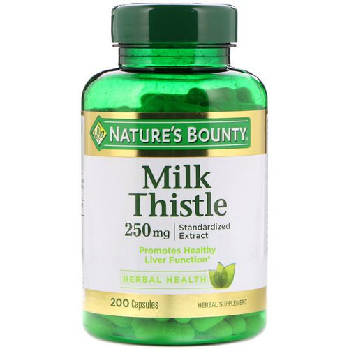 Nature's Bounty, Milk Thistle, 250 mg, 200 Capsules Review