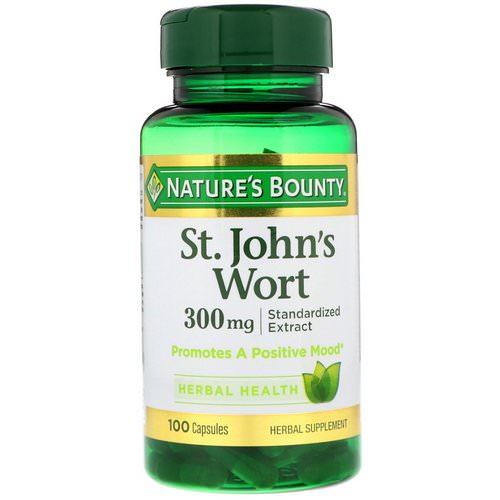 Nature's Bounty, St. John's Wort, 300 mg, 100 Capsules Review