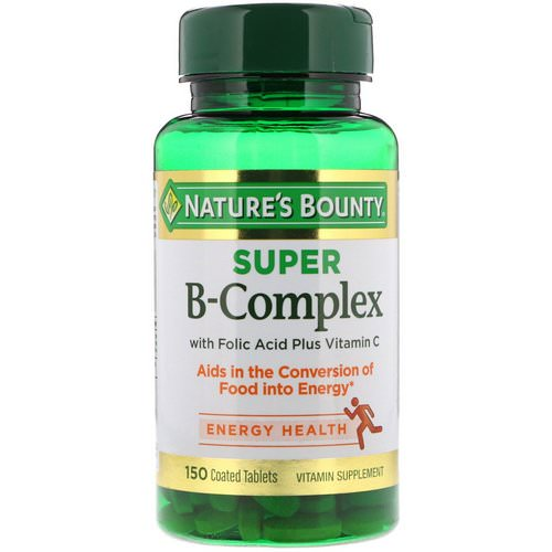 Nature's Bounty, Super B-Complex with Folic Acid Plus Vitamin C, 150 Coated Tablets Review