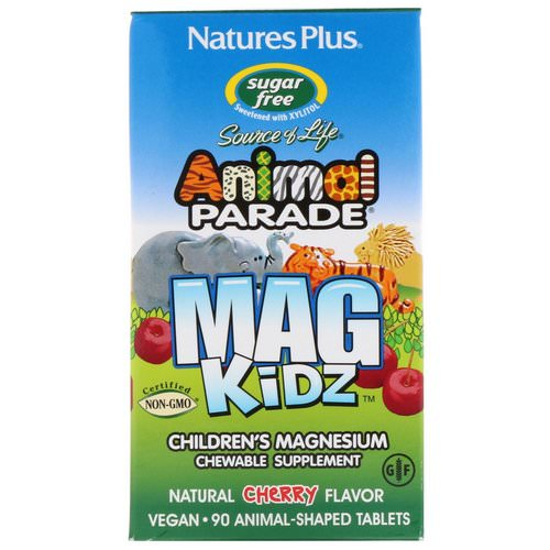 Nature's Plus, Animal Parade, MagKidz, Children's Magnesium, Natural Cherry Flavor, 90 Animal-Shaped Tablets Review