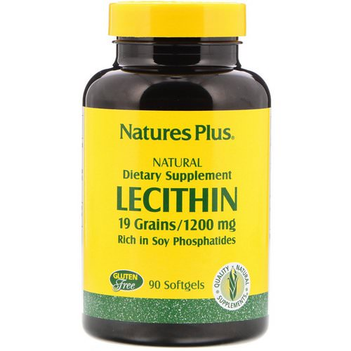 Nature's Plus, Lecithin, 1,200 mg, 90 Softgels Review