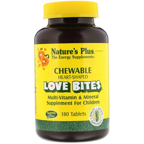 Nature's Plus, Love Bites Multi-Vitamin & Mineral, Supplement For Children, 180 Tablets Review