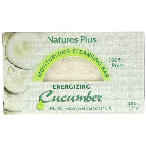 Nature's Plus, Moisturizing Cleansing Bar, Energizing Cucumber, 3.5 oz (100 g) Review