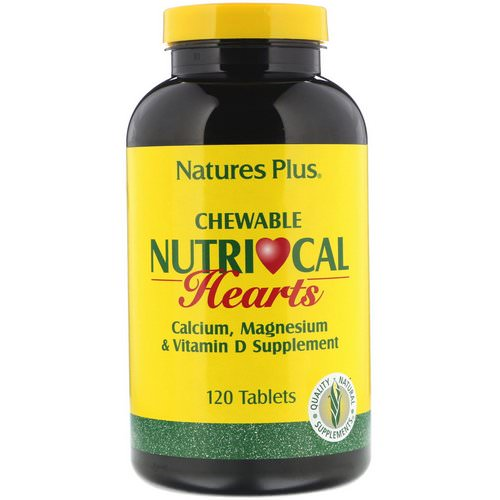 Nature's Plus, Nutri-Cal Hearts, Chewable, 120 Tablets Review