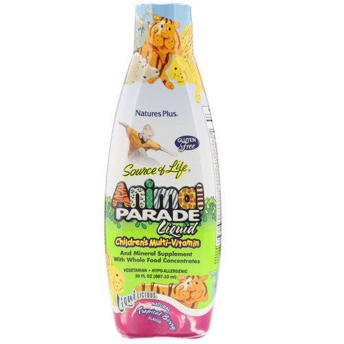 Nature's Plus, Source of Life, Animal Parade Liquid, Children's Multi-Vitamin, Natural Tropical Berry Flavor, 30 fl oz (887.10 ml) Review