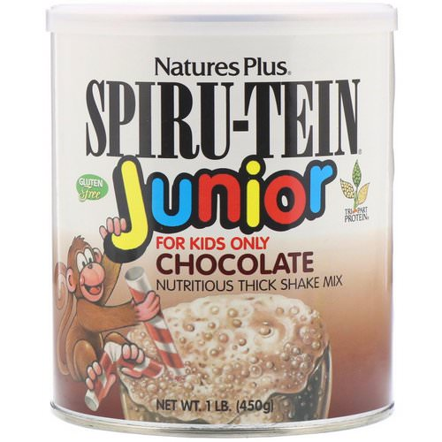 Nature's Plus, Spiru-Tein Junior, Nutritious Thick Shake Mix, Chocolate, 1 lb (450 g) Review