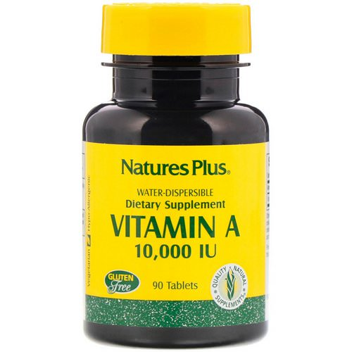 Nature's Plus, Vitamin A, 10,000 IU, 90 Tablets Review