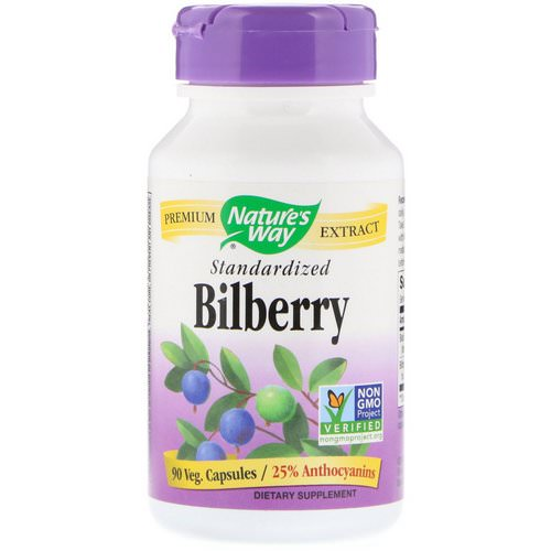 Nature's Way, Bilberry, Standardized, 90 Veg Capsules Review