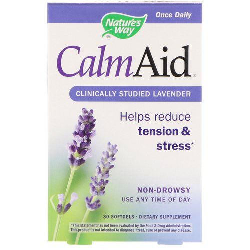 Nature's Way, CalmAid, Clinically Studied Lavender, 30 Softgels Review