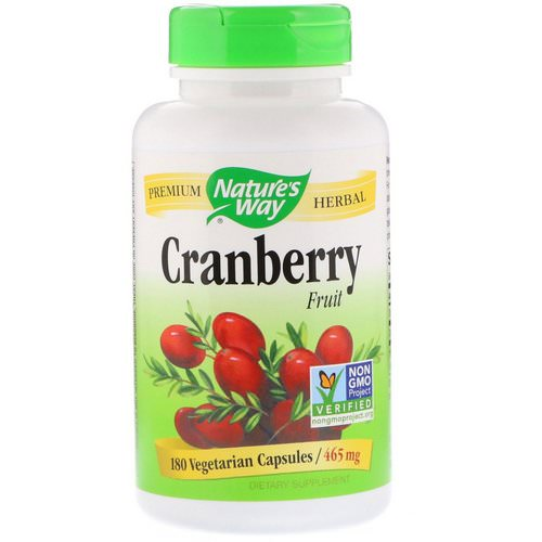Nature's Way, Cranberry Fruit, 465 mg, 180 Vegetarian Capsules Review
