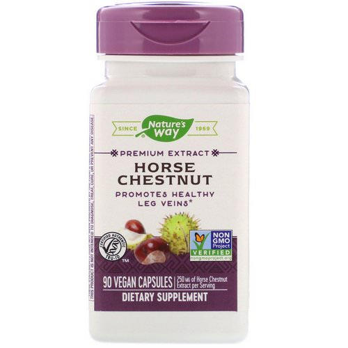 Nature's Way, Horse Chestnut, 250 mg, 90 Vegan Capsules Review