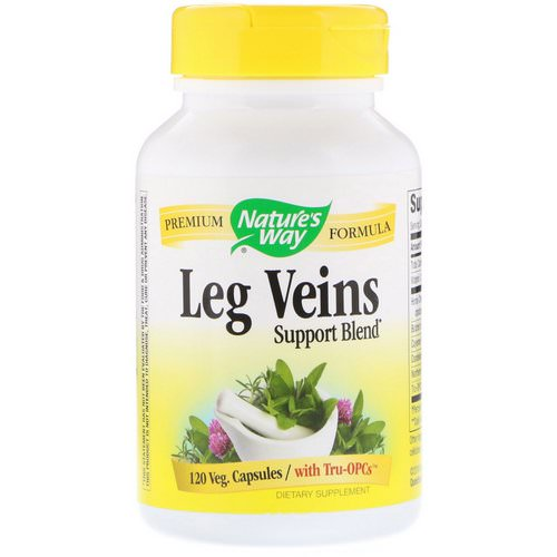 Nature's Way, Leg Veins Support Blend, 120 Veg Capsules Review