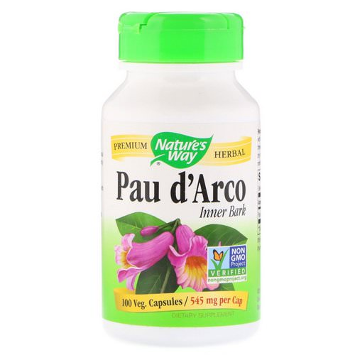 Nature's Way, Pau d'Arco Inner Bark, 545 mg, 100 Veg Capsules Review