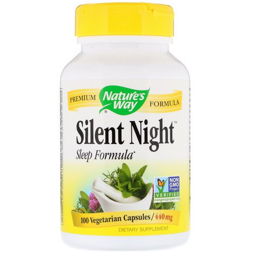 Nature's Way, Silent Night Sleep Formula, 440 mg, 100 Vegetarian Capsules Review