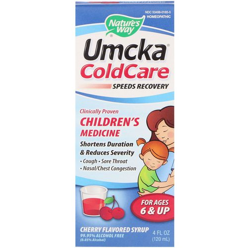 Nature's Way, Umcka ColdCare, Cherry Flavored Syrup, 4 fl oz (120 ml) Review