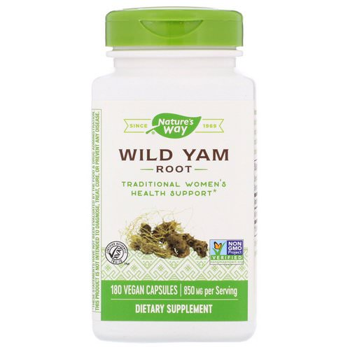 Nature's Way, Wild Yam Root, 850 mg, 180 Vegan Capsules Review