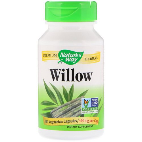 Nature's Way, Willow, 400 mg, 100 Vegetarian Capsules Review