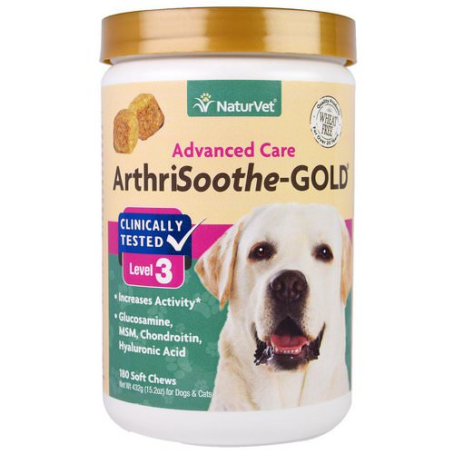 NaturVet, ArthriSoothe-GOLD, Advanced Care, Level 3, 180 Soft Chews, 15.2 oz (432 g) Review