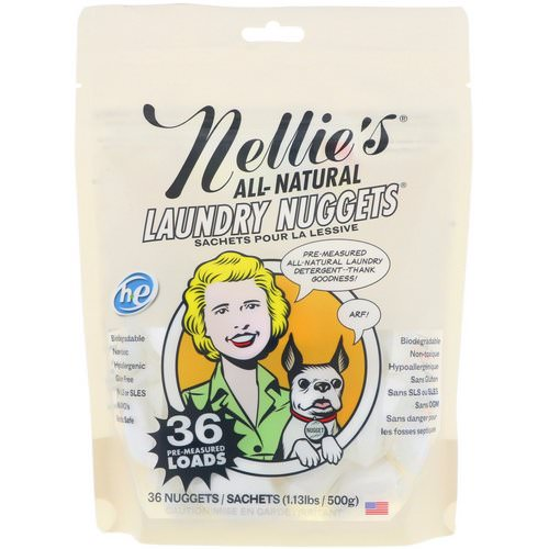 Nellie's, All Natural, Laundry Nuggets, 36 Nuggets, 1.13 lbs (500 g) Review
