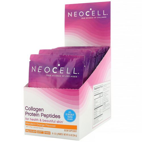 Neocell, Collagen Protein Peptides, Mandarin Orange, 16 Packets, .78 oz (22 g) Each Review