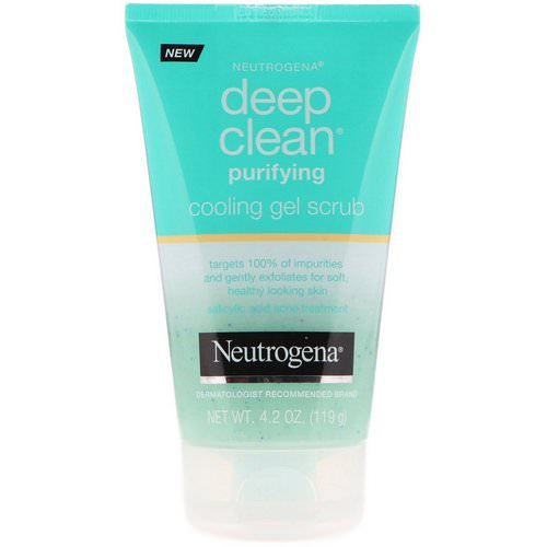Neutrogena, Deep Clean, Purifying, Cooling Gel Scrub, 4.2 oz (119 g) Review