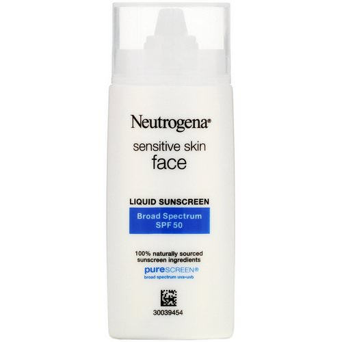 Neutrogena, Sensitive Skin, Face, Liquid Sunscreen, SPF 50, 1.4 fl oz (40 ml) Review