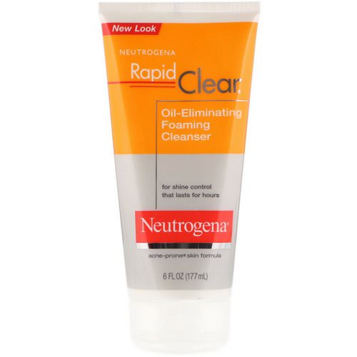 Neutrogena, Rapid Clear, Oil-Eliminating Foaming Cleanser, 6 fl oz (177 ml) Review