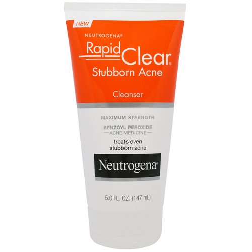 Neutrogena, Rapid Clear, Stubborn Acne Cleanser, Maximum Strength, 5.0 fl oz (147 ml) Review