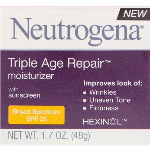 Neutrogena, Triple Age Repair, Moisturizer with Sunscreen, Broad Spectrum SPF 25, 1.7 oz (48 g) Review