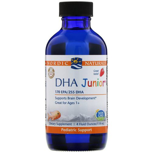 Nordic Naturals, DHA Junior, Great for Ages 1+, Strawberry, 4 fl oz (119 ml) Review
