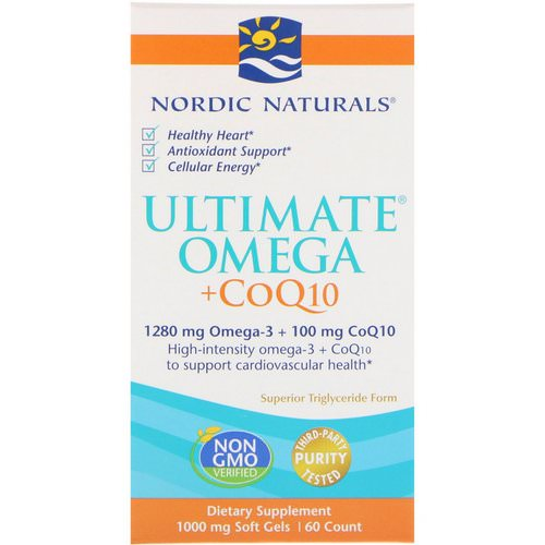 Nordic Naturals, Ultimate Omega + CoQ10, 1000 mg, 60 Soft Gels Review
