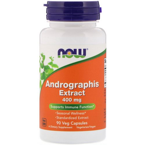 Now Foods, Andrographis Extract, 400 mg, 90 Veg Capsules Review