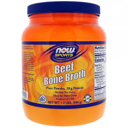 Now Foods, Beef Bone Broth, 1.2 lbs (544 g) Review