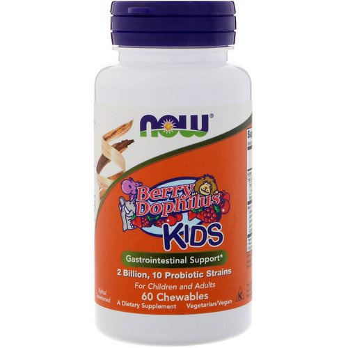 Now Foods, Berry Dophilus, Kids, 2 Billion, 60 Chewables Review