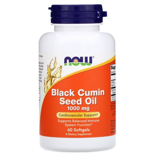 Now Foods, Black Cumin Seed Oil, 1,000 mg, 60 Softgels Review