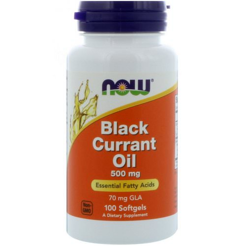 Now Foods, Black Currant Oil, 500 mg, 100 Softgels Review