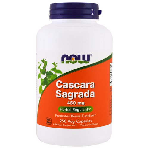 Now Foods, Cascara Sagrada, 450 mg, 250 Veg Capsules Review