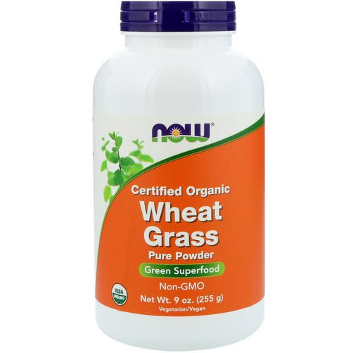 Now Foods, Certified Organic Wheat Grass, 9 oz (255 g) Review