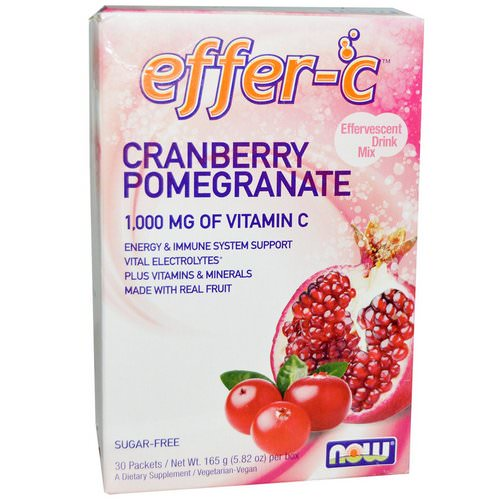 Now Foods, Effer-C, Cranberry Pomegranate, 30 Packets, 5.5 g Each Review