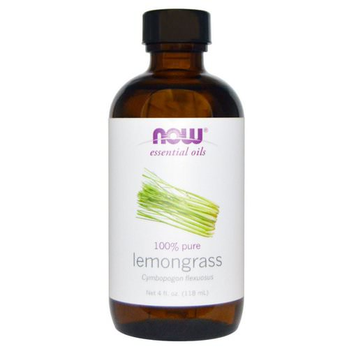 Now Foods, Essential Oils, Lemongrass, 4 fl oz (118 ml) Review